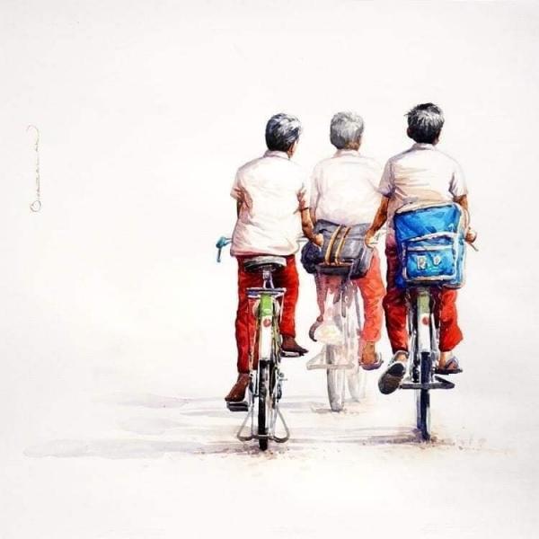 L'Inde en dessins 14 À vélo