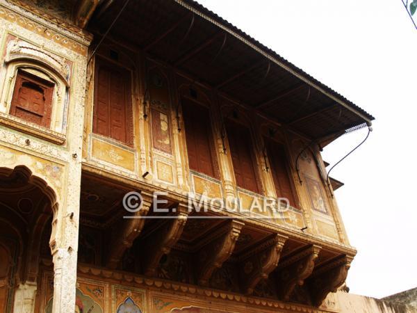 Un balcon comme tant d'autres, dans le Shekawati