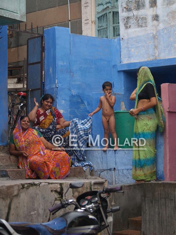 Scène de la vie quotidienne à Jodhpur - Bain