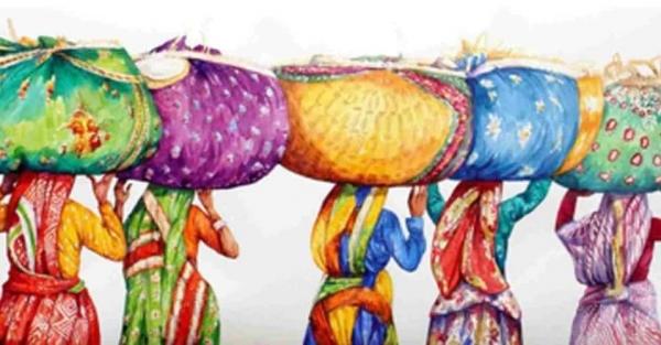 L'Inde en dessins 6 Des femmes portant des charges
