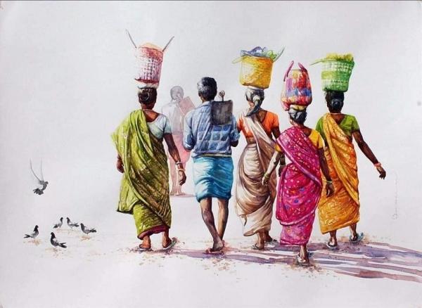 L'Inde en dessins 10 Travailleurs journaliers