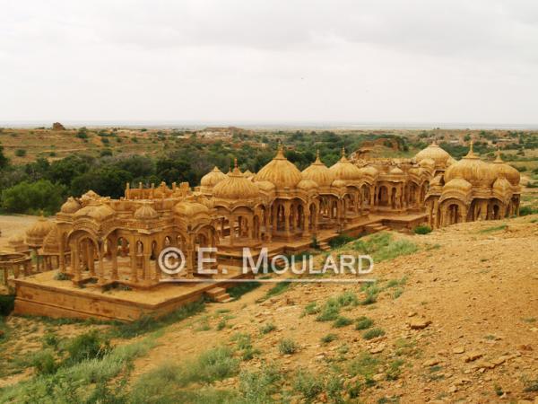 Les cénotaphes à Jaisalmer