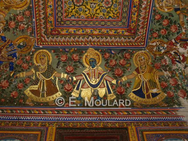 Peinture d'or dans le Shekawati (Mandawa)