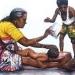 L'Inde en dessins 3 Maman massant son bébé