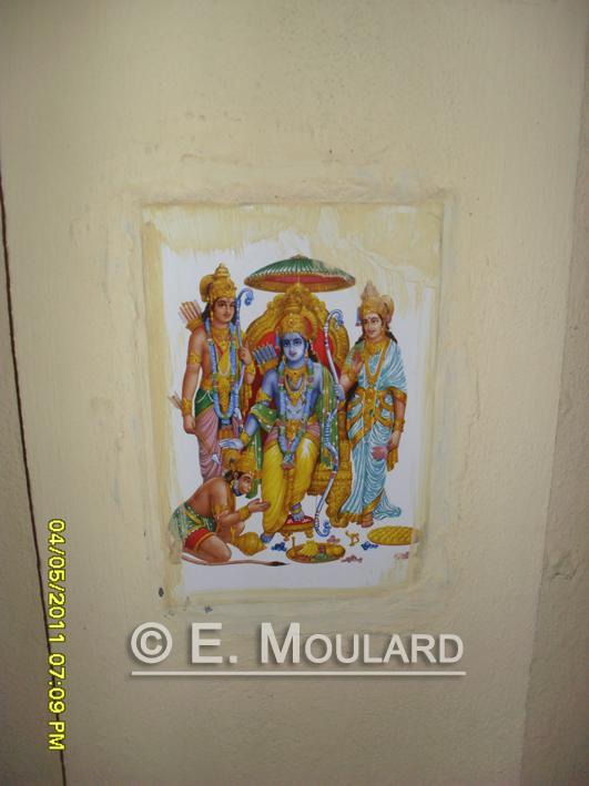 Idols on the walls - Hindu