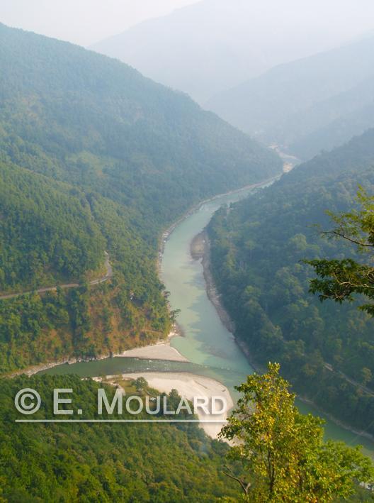 Teesta / Tista river au Sikkim / West Bengal