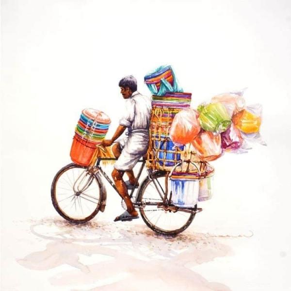 L'Inde en dessins 22 Vendeur de seaux