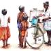 L'Inde en dessins 21 Vélo-cart