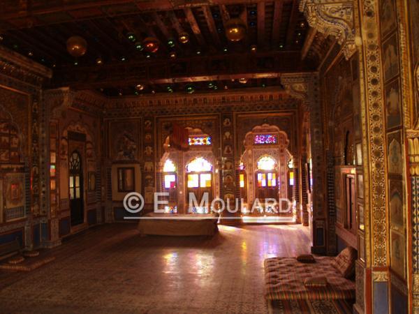 Chambre de Maharajah dans le palais de Jodhpur