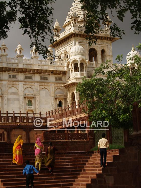 Cénotaphe de marbre Jaswant Thada à Jodhpur