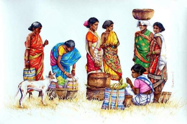 L'Inde en dessins 20 Femmes