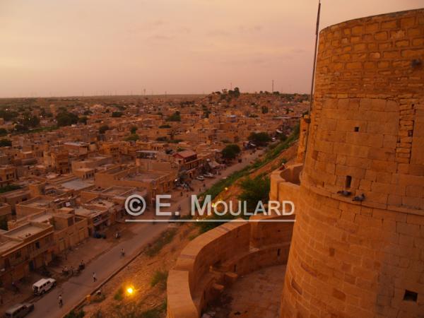 Le fort de Jaisalmer au coucher du soleil