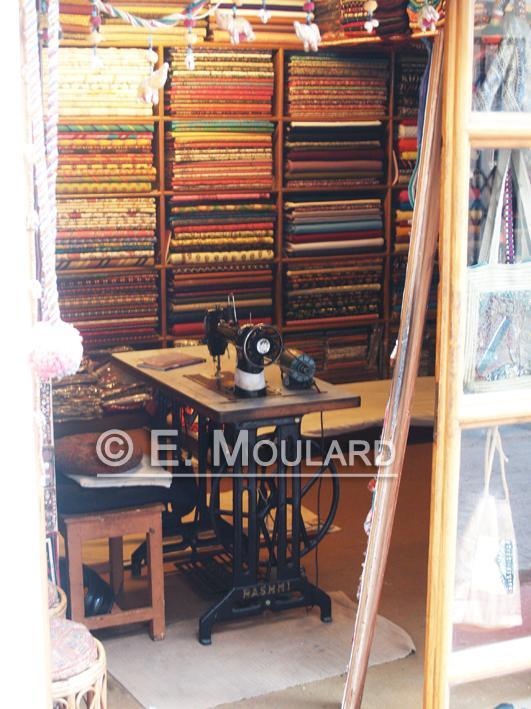 Echoppe de tailleur à Udaipur